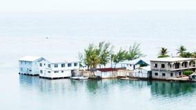 Punto di vista impressionante della quercia Ridge Cay, Santos Guardiola, Roatan fotografia stock libera da diritti