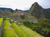 Punto di vista di Inca City antico di Machu Picchu immagine stock libera da diritti