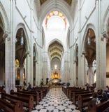 Punto di vista interno di Almudena Cathedral Fotografie Stock Libere da Diritti