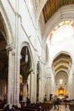Punto di vista interno di Almudena Cathedral a Madrid, Spagna Immagine Stock Libera da Diritti