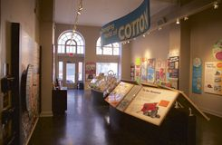 Punto di vista interno di Memphis Cotton Exchange Building Fotografie Stock