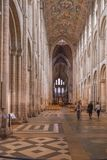 Punto di vista interno di Ely Cathedral fotografie stock