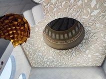 Punto di vista interno di Sheikh Zayed Mosque, Abu Dhabi, UAE Fotografia Stock Libera da Diritti