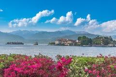 Punto di vista di Isola Bella Island sul lago Maggiore fotografie stock