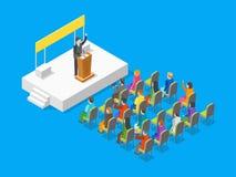 Punto di vista isometrico di Politico Business Concept 3d Vettore Fotografia Stock Libera da Diritti
