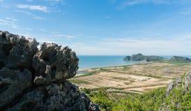 Punto di vista di Khao Daeng Prachuap Khiri Khan Thailand fotografia stock libera da diritti