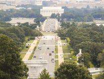 Punto di vista di Lincoln Memorial fotografie stock libere da diritti