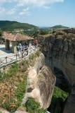 Punto di vista nel monastero santo di grande Meteoron Fotografie Stock Libere da Diritti