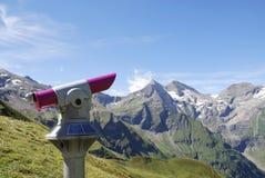 Punto di vista nelle alpi Fotografia Stock Libera da Diritti