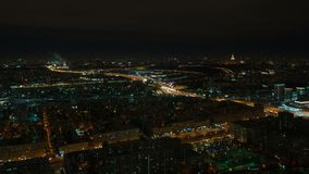 Punto di vista di notte di Mosca e di terzo Ring Road archivi video