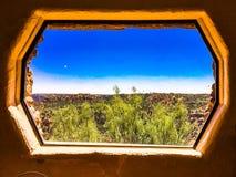Punto di vista pagina di Palo Duro Canyon nel Texas Fotografie Stock
