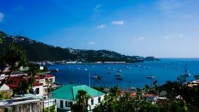 Punto di vista panoramico di Charlotte Amalie, USVI immagine stock