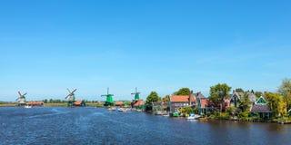Punto di vista panoramico dello Zaanse olandese Schans Immagine Stock