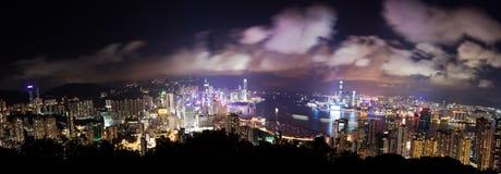 Punto di vista panoramico di alta risoluzione di Hong Kong a Fotografia Stock