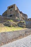 Punto di vista panoramico di Civita di Bagnoregio. Il Lazio. L'Italia. Fotografia Stock
