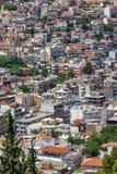 Punto di vista panoramico di Lamia City, Grecia fotografia stock