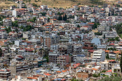 Punto di vista panoramico di Lamia City, Grecia immagini stock