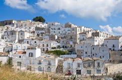 Punto di vista panoramico di Monte Sant ' Angelo. La Puglia. L'Italia. Immagini Stock Libere da Diritti