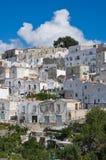 Punto di vista panoramico di Monte Sant ' Angelo. La Puglia. L'Italia. Fotografie Stock