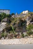 Punto di vista panoramico di Satriano di Lucania L'Italia Fotografia Stock Libera da Diritti