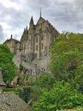 Punto di vista panoramico di Mont Saint Michele, Normandia, Francia fotografia stock