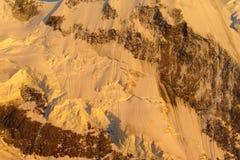 Punto di vista pittoresco del ghiacciaio nelle alpi Fotografia Stock Libera da Diritti