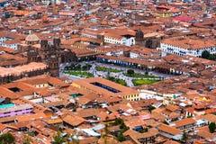 Punto di vista di Plaza de Armas, Cusco, Perù immagini stock libere da diritti