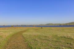 Punto di vista di pomeriggio di bello San Luis Creek Kiosk immagine stock libera da diritti