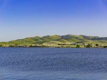 Punto di vista di pomeriggio di bello San Luis Creek Kiosk fotografie stock