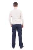 Punto di vista posteriore dell'uomo in jeans Fotografie Stock