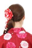 Punto di vista posteriore di giovane donna asiatica Fotografie Stock