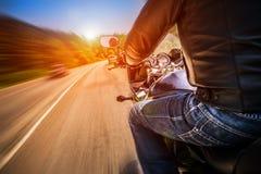 Punto di vista in prima persona del motociclista Fotografia Stock Libera da Diritti