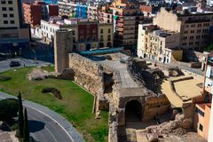 Punto di vista di Roman Circus di Tarraco fotografia stock