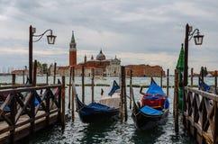 Punto di vista di San Giorgio Maggiore a Venezia Fotografia Stock Libera da Diritti