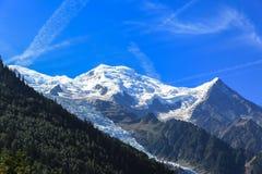 Punto di vista sbalorditivo di Mont Blanc da Chamonix-Mont-Blanc Fotografie Stock