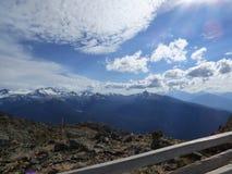 Punto di vista scenico della montagna di Whistler Immagini Stock