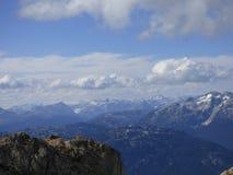 Punto di vista scenico della montagna di Whistler Immagine Stock