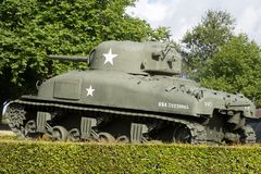 Punto di vista di Sherman Tank fotografia stock libera da diritti