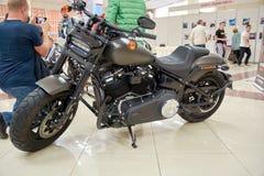 Punto di vista sinistro di Harley Davidson 114 immagini stock libere da diritti