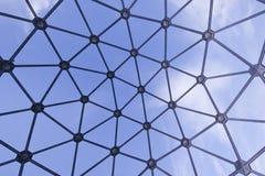 Punto di vista Spheric del metallo Immagini Stock Libere da Diritti