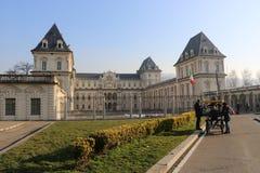 Punto di vista stupefacente di Valentino Castle a Torino, Piemonte, Italia immagine stock libera da diritti