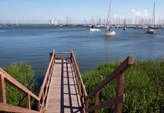 Punto di vista sul porto Enkhuizen Fotografia Stock