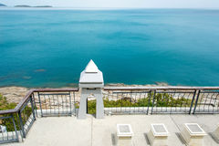 Punto di vista sull'orizzonte dell'isola di Samui in Tailandia Fotografie Stock
