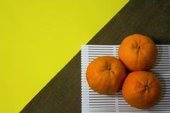 Punto di vista superiore dei mandarini Immagini Stock Libere da Diritti