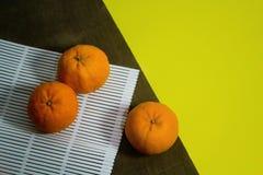 Punto di vista superiore dei mandarini Immagine Stock