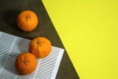 Punto di vista superiore dei mandarini Immagini Stock
