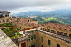Punto di vista superiore del San Morino, Italia Immagini Stock Libere da Diritti