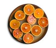Punto di vista superiore delle arance rosse Fotografie Stock