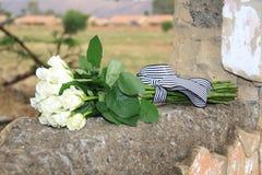 punto di vista superiore delle rose del mazzo Fotografie Stock
