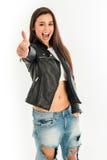 Punto di vista superiore di giovane donna attraente Immagini Stock Libere da Diritti